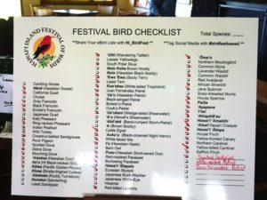 bird checklist