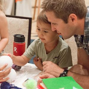 kids crafts and the Bird Fair